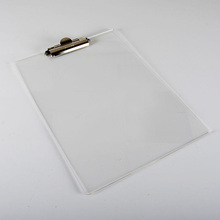 Custom Clear Acrylic Clipboards Wholesale Writing Board With Metal Clip Lucite Office File Organizer