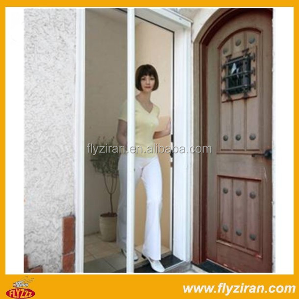 Retractable insect mosquito net pleated diy house sliding fly screen door