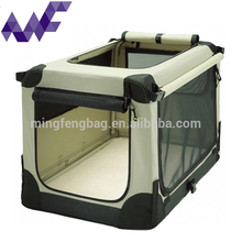 Dog Cat Pet Fabric Portable Carrier Folding Tote Crate Cage Steel Pipe