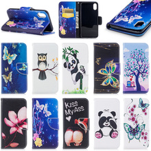 Cute cartoon butterfly wallet leather case for iphone 8, for iphone 8 case leather