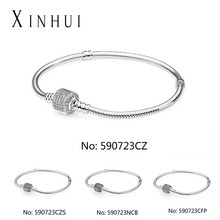 Wholesale 925 sterling Silver Fit Pandoras DIY beads bracelet DIY beads bracelet for pandoras charms