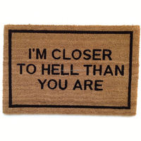 Outdoor Decorative Personalized Coir Door Mats