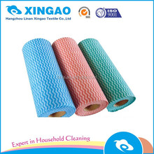 Custom products roll household medical viscose/polyester double sided heavy duty rayon king non woven room wiping cleaning cloth