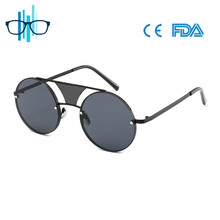 2017 Punk style metal frame sung glasses