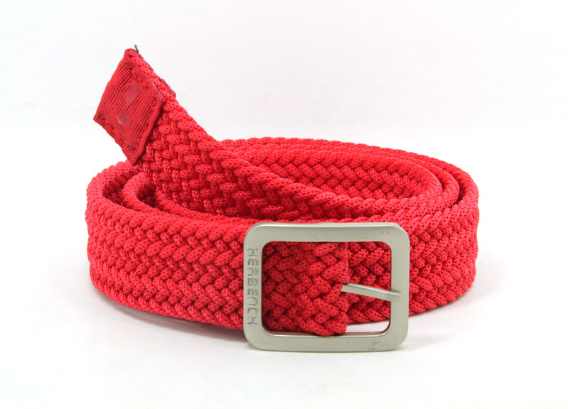 High quality fashion unility Red braided <strong>belt</strong>