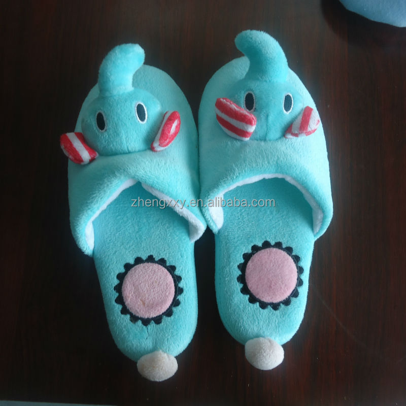 cloth toe winter with TPR sole children indoor slippers