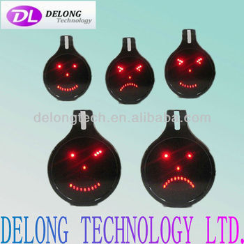 CE and RoHS five lovely car emotions led smile sign,no need wire