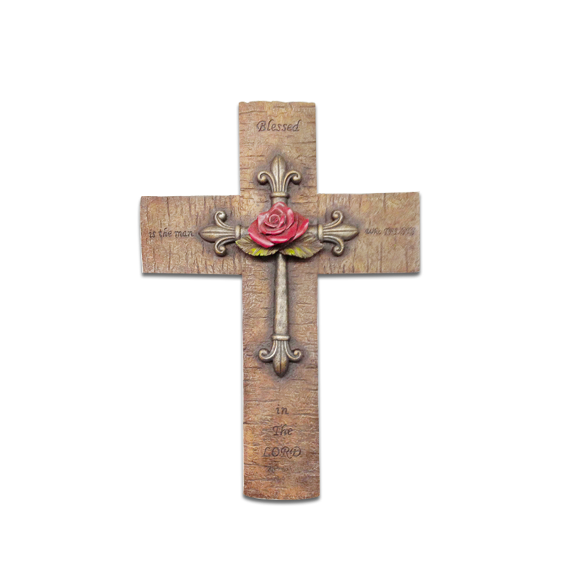 Resin large decorative carved olive wall wooden crosses for Cheap wooden crosses for crafts