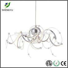 nice art glass modern ceiling lamp led hotel interior design e27 220v 230v fabric dining lamp luminaire
