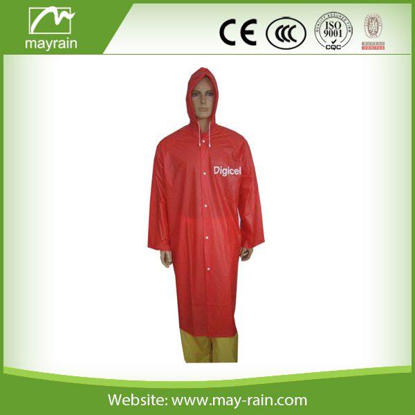 Luxury foldable pvc rain coat waterproof poncho