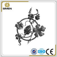 decorate metal rosettes/decorative wrought iron fence/gate