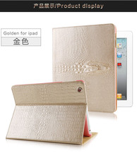 2016 hot sale CROCO pu leather stand flip cover case for ipad 2/3/4/5/6 ipad mini 1/2/3/4, cover for ipad