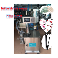 High quality moveable type stainless steel small volume viscosity nail polish filling machine