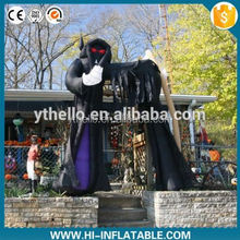 horrible outdoor halloween inflatable black ghost arch for sale/inflatable halloween decoration