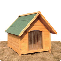 Apex Roof Wooden Puppy House With Playpen DFD009