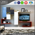 modern new model melamine tv cabinet with showcase