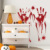 Removable PVC kids room halloween horriable blood hand wall sticker for home decoration