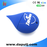 pvc hot usb thumb drive custom-made usb flash drive water drop shape usb with various design