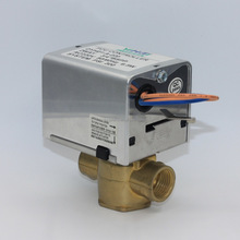 motorized valve for FCU with spring return actuator