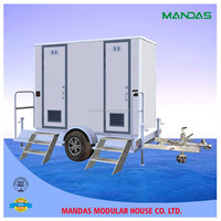 low cost mobile toilet/prefab restroom trailer/mobile trailers toilet for sale