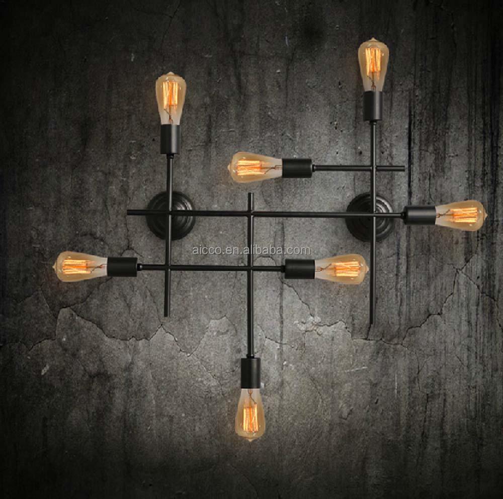 vintage lamp edison led bulb black rusted color industrial. Black Bedroom Furniture Sets. Home Design Ideas