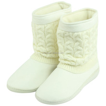 slipper boots unisex indoor/outdoor cable knit warm boot winter boot