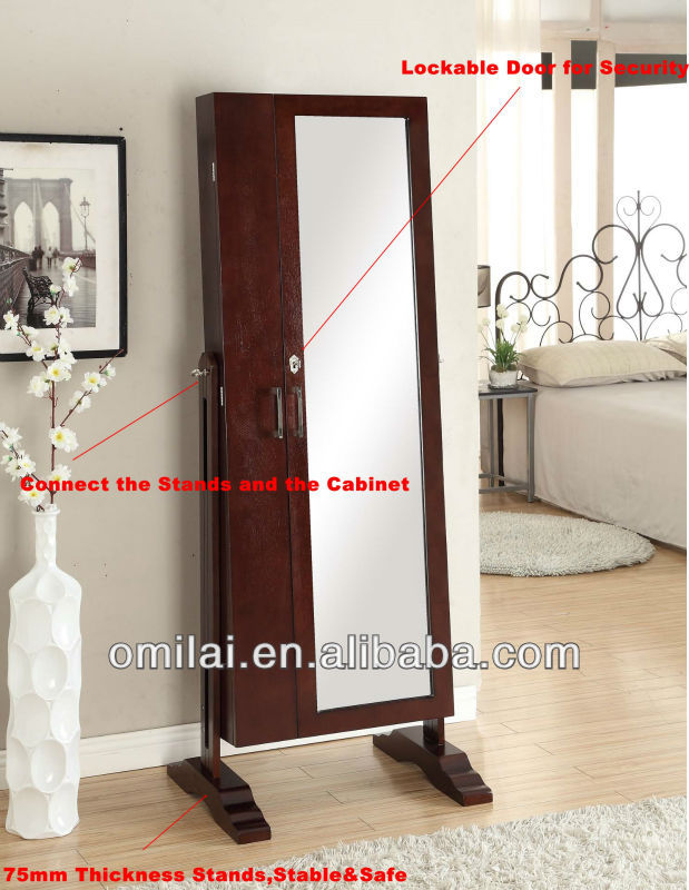 big standing glass floor mirror