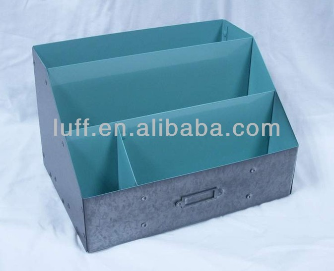 paint coating colorful metal zinc letters case storage boxes files letters organizer letter desk organizer case containers