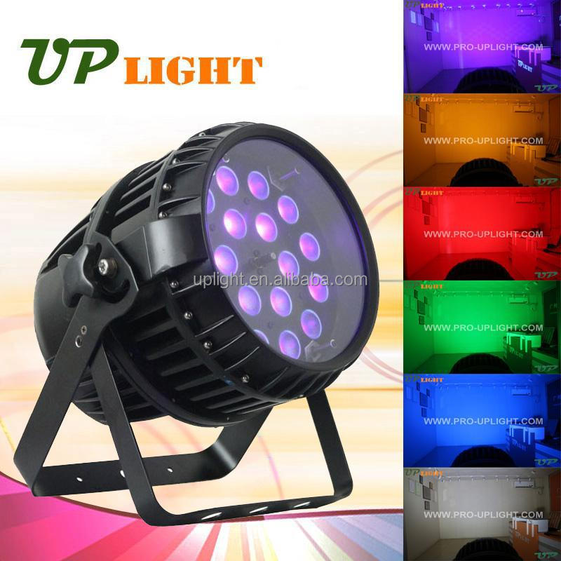 6in1 rgbwa uv 18x12w outdoor waterproof led par with zoom