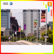 Attractiveness Double sided street pole banner light post flags