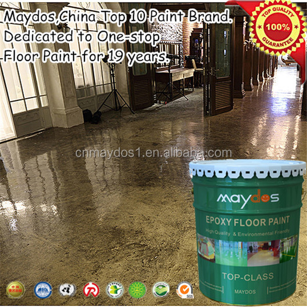 Maydos Self-leveling Metalic floor epoxy paints for factory ,hospital, electronic factory