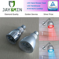 Plastic led head shower