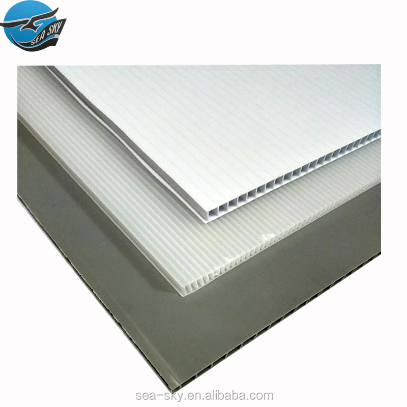 1.8mm 2mm china suppliers pp plastic material hollow corrugated coroplast correx divider cartonplast sheet
