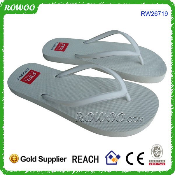 Small Quantity Custom Ladies White Beach Wedding Flip Flops Slippers