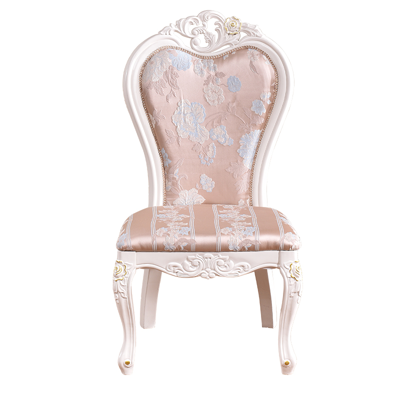 French Baroque Style Wooden Fabric Wooden Dining Room <strong>Chair</strong>
