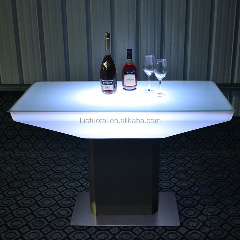 Rechargeable interactive led coffee table/LED dining table /LED bar table /LED living room table