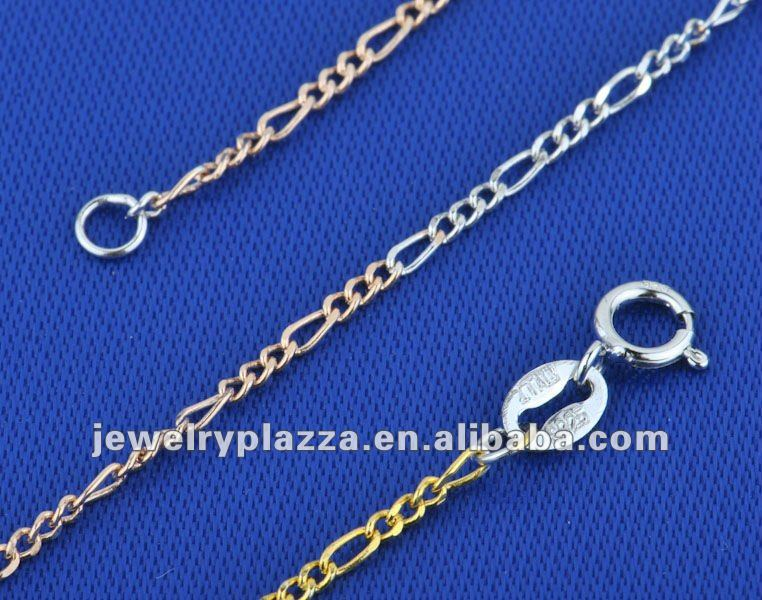 Italy 925 sterling silver 3 colors Chain new design