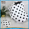 large dot print white color baby car seat wrap