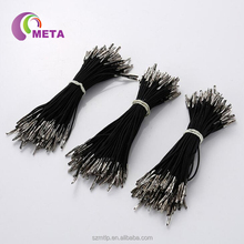 High quality round black elastic cord with metal barb end