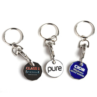 Factory Price Fase Delivery Trolley Holder Metal Shopping With metal trolley coin keychain keyholder