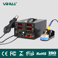 853D Solder station Multifunction SMD/SMT rework station, hot air gun soldering iron DC power supply 3 in 1 853D 5A