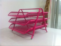 Red Metal Mesh Document Tray HT-8101