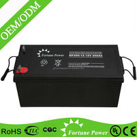 Low discharge rate 18v 12v 200ah deep cycle solar battery
