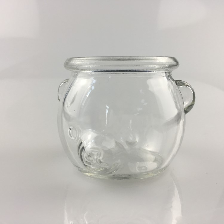 animal shaped wide mouth glass container