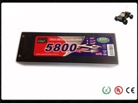 Long life RC hard case lipo batteries pack 5800mAh 11.1V for rc car/airplane/hobby