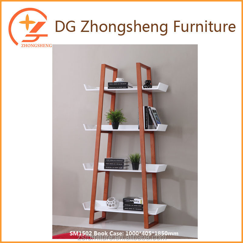 promotional book case with ladder type high glossy modern