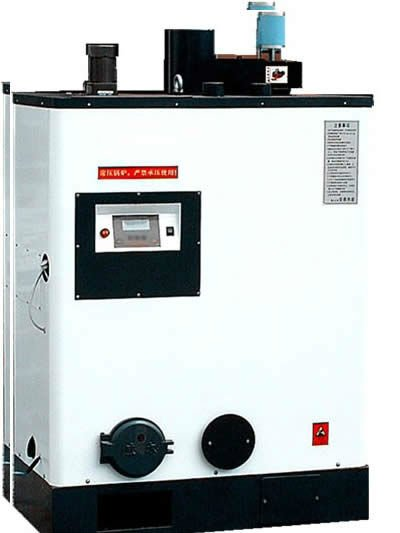 Small capacity pellet fired hot water boiler for home