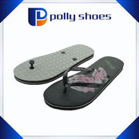Childrens/Girls Flower Print Flip Flops