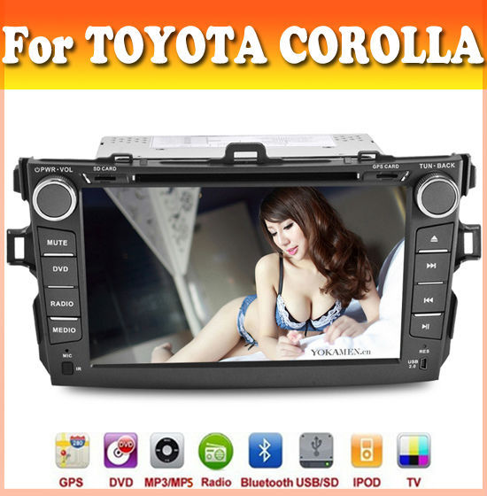 touch sreen car dvd player with GPS Navigation for TOYOTA COROLLA 2007 - 2011 with radio bluetooth ipod usb/sd car dvd gps