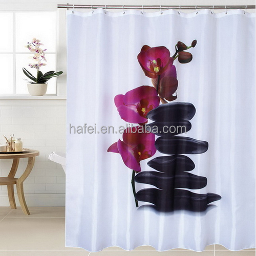 Can Choose A Variety of Different Styles waterproof Shower Curtains